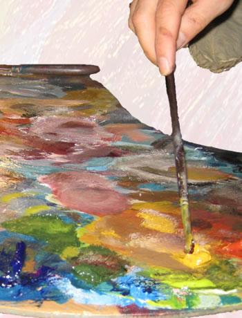 La palette du peintre