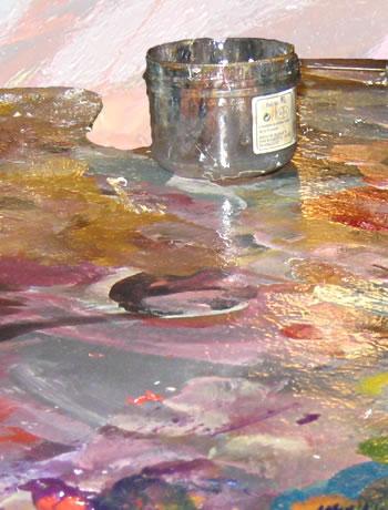 Palette et peinture