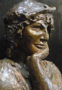 Art-funéraire- Buste d'après photo - Bronze - sculpture