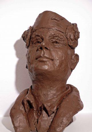 Saint-Exupery-Bustes-Medailles-Gissinger Mariele – Sculpture – Bronzes – Modelage – Terre – Ton - Céramique – Porcelaine – Porcelain – Artiste - Art-gm – Alsace - France