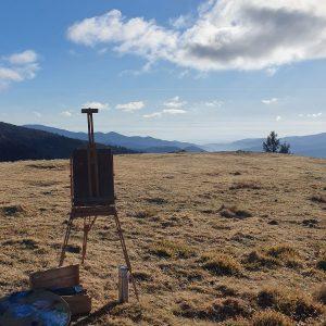 Atelier creatif - peinture- Gissinger-Mariele-Peinture-huile-Peinte-Artiste-Art-gm-Alsace-France-Vosges-Ballon d'alsace