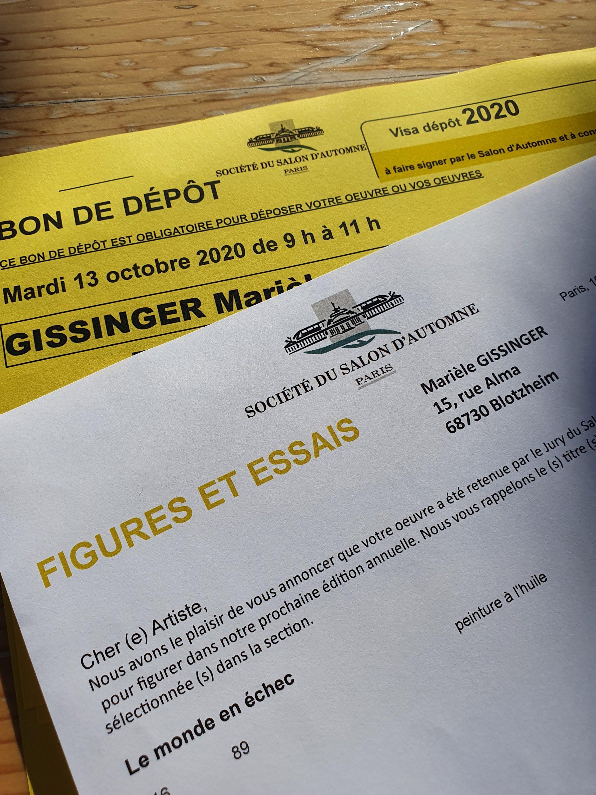 Gissinger-Mariele-Peinture-huile-Peinte-Artiste-Art-gm-Alsace-France – Le-Monde – salon automne - Paris
