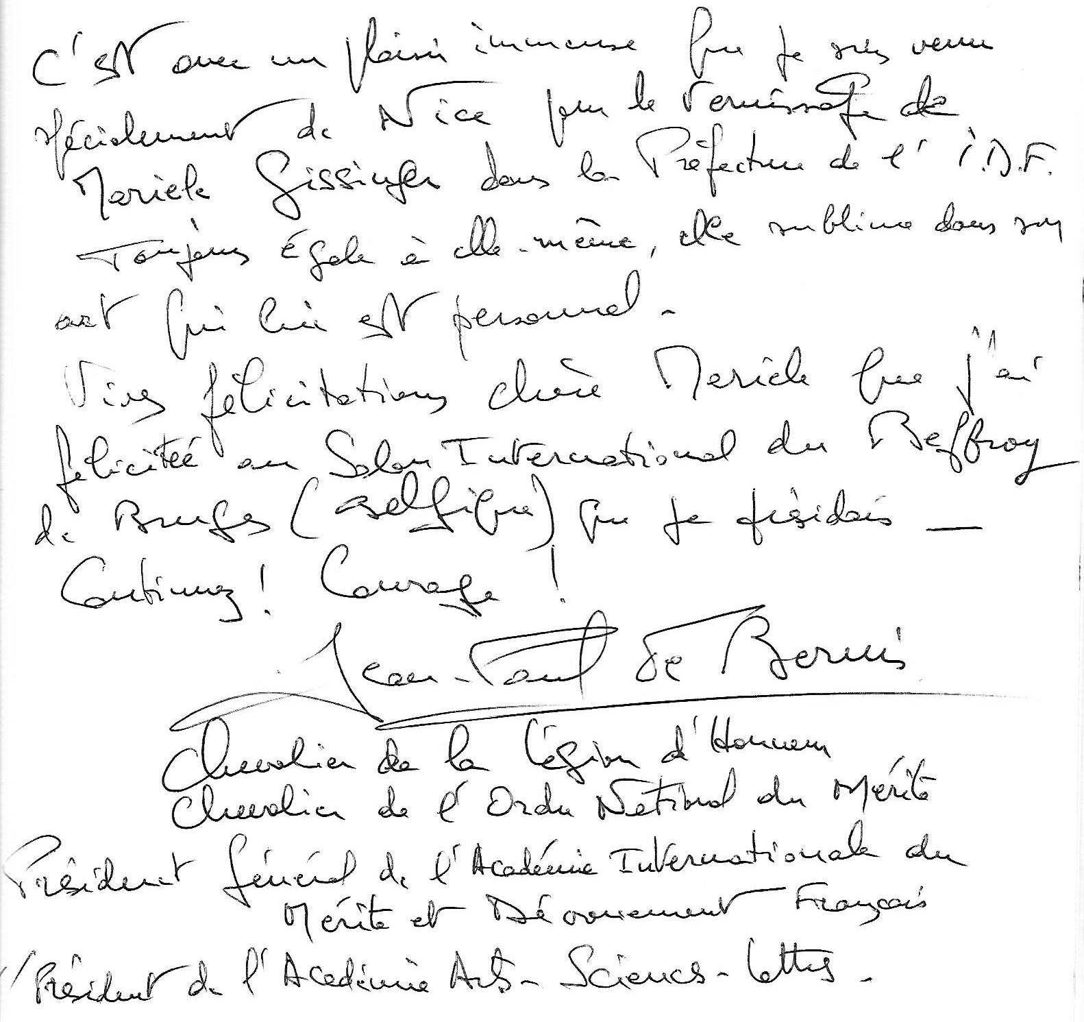 Gissinger-Mariele-Peinture-huile-Peinte-Artiste-Art-gm-Alsace-France– Le-Monde – salon automne – Paris – prefecture paris-ile de France-JP de Bernis- Président Mérite et dévouement
